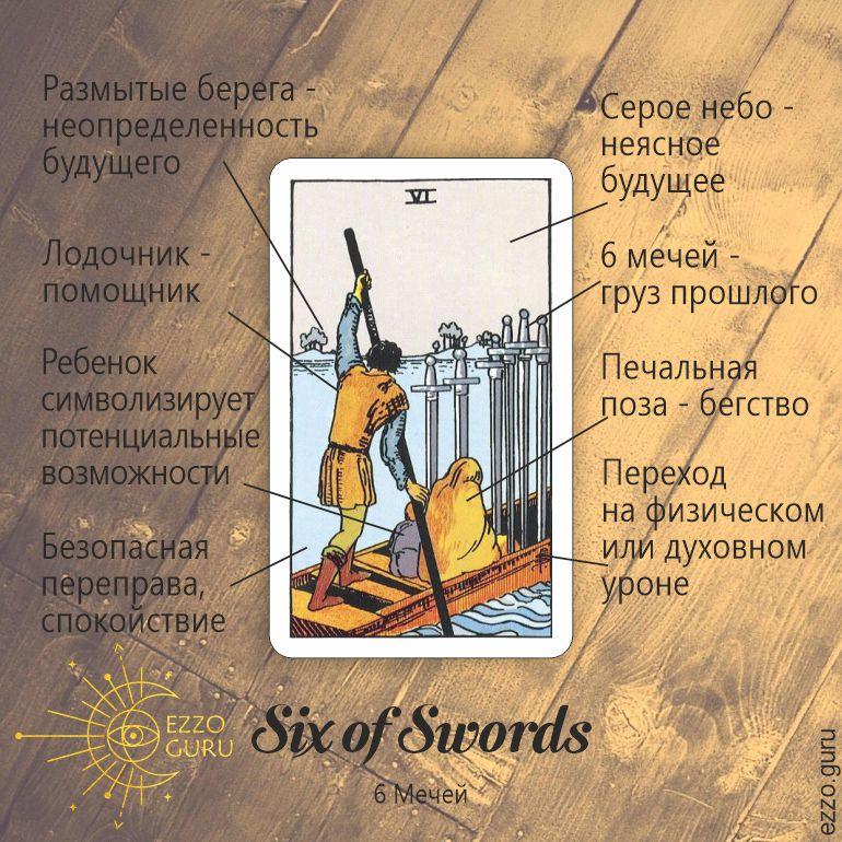 6 мечей символика