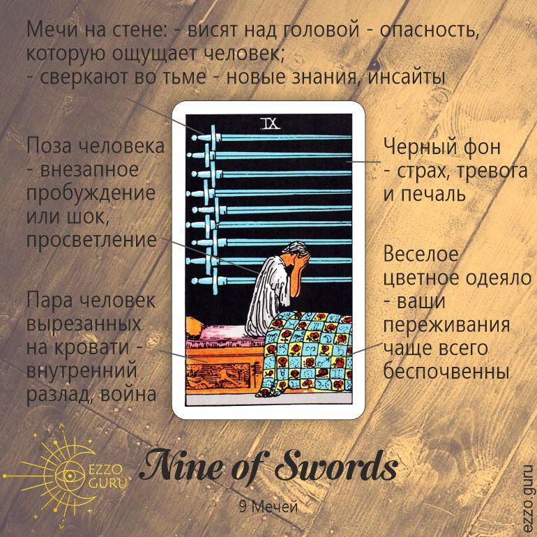 символы карты 9 мечей