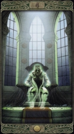 Таро призраков_4 пентаклей
