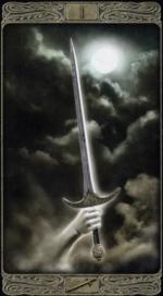 Таро призраков_Туз мечей