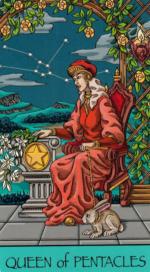 Таро Счастливой звезды_Королева пентаклей