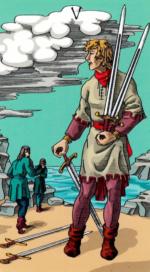 Таро Счастливой звезды_5 мечей