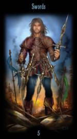 Таро Божественного наследия_5 мечей