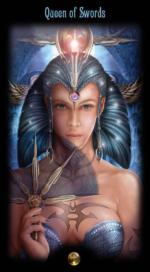 Таро Божественного наследия_Королева мечей
