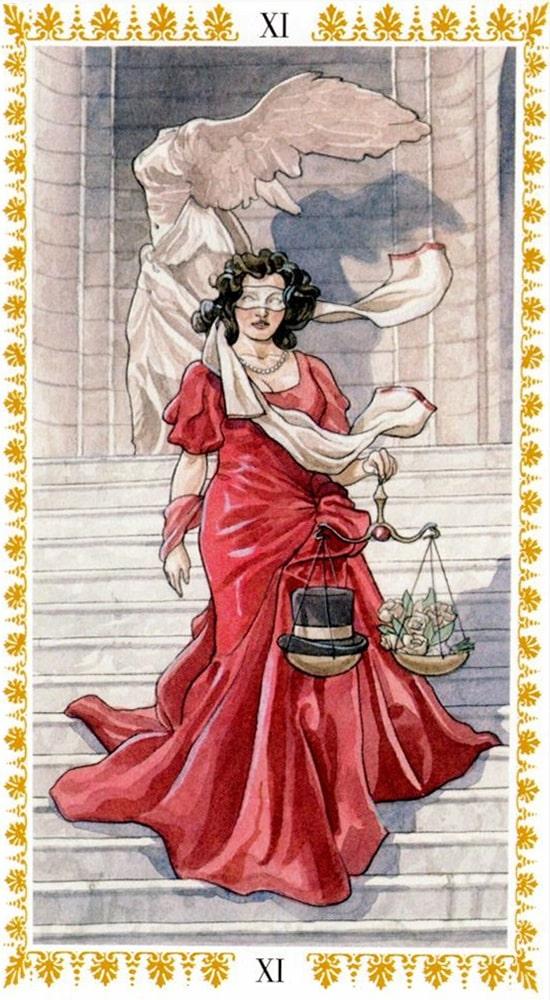 Романтическое таро_Справедливость