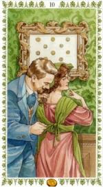 Романтическое таро_10 пентаклей