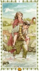 Романтическое таро_8 пентаклей