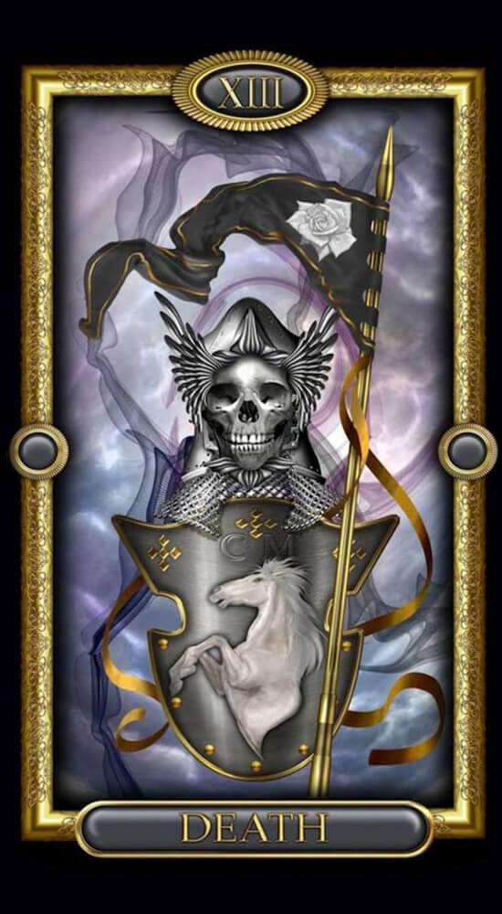 Позолоченное королевское таро_Смерть