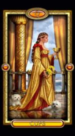 Позолоченное королевское таро_Королева кубков