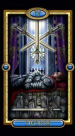 Позолоченное королевское таро_4 мечей