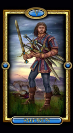 Позолоченное королевское таро_5 мечей