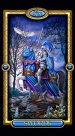 Позолоченное королевское таро_Рыцарь мечей