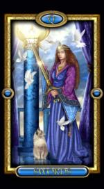 Позолоченное королевское таро_Королева мечей