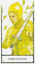 Таро старого пути_Рыцарь мечей