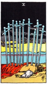 таро Райдера-Уэйта, 10 мечей