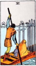 таро Райдера-Уэйта, 6 мечей