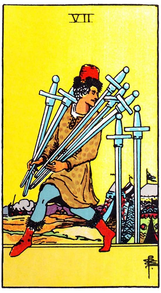 таро Райдера-Уэйта, 7 мечей