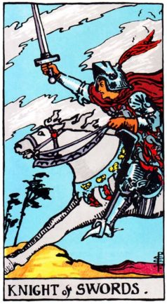 Значение карты Таро Рыцарь Мечей