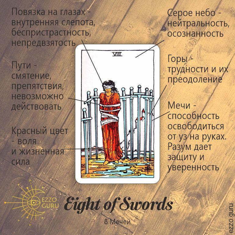 Символы 8 мечей