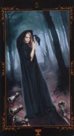 Таро Темных сказок_5 кубков