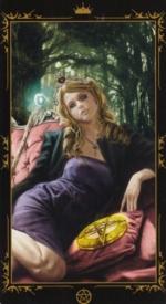 Таро Темных сказок_Королева пентаклей