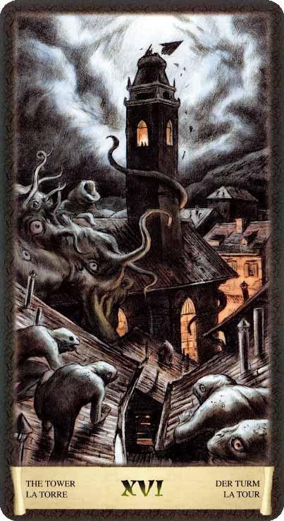 Таро Черный Гримуар_ Башня