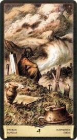 Таро Черный Гримуар_4 мечей