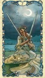Таро Альфонса Мухи_2 мечей