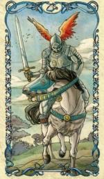 Таро Альфонса Мухи_Рыцарь мечей