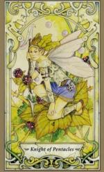 Таро Мистических фей, Рыцарь пентаклей