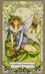 Таро Мистических фей, Королева пентаклей