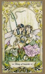 Таро Мистических фей, 3 мечей