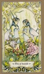 Таро Мистических фей, 5 мечей