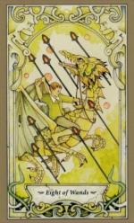 Таро Мистических фей, 8 жезлов