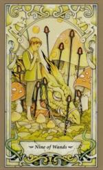 Таро Мистических фей, 9 жезлов