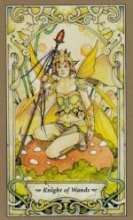 Таро Мистических фей, Рыцарь жезлов