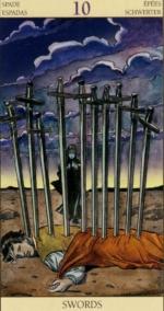 Таро Нового видения_10 мечей