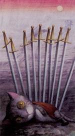 Таро таинственного леса_10 мечей