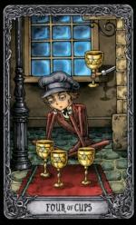 Таро Темный особняк_4 кубков