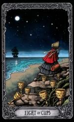 Таро Темный особняк_8 кубков