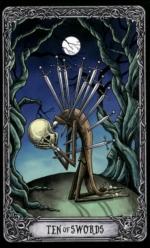 Таро Темный особняк_10 мечей