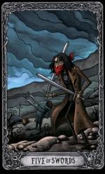 Таро Темный особняк_5 мечей