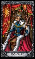 Таро Темный особняк_Король жезлов