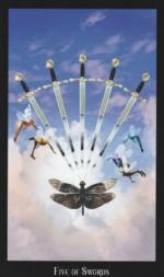 Таро Ведьм, 5 мечей