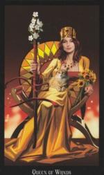 Колода Таро Ведьм, Королева жезлов